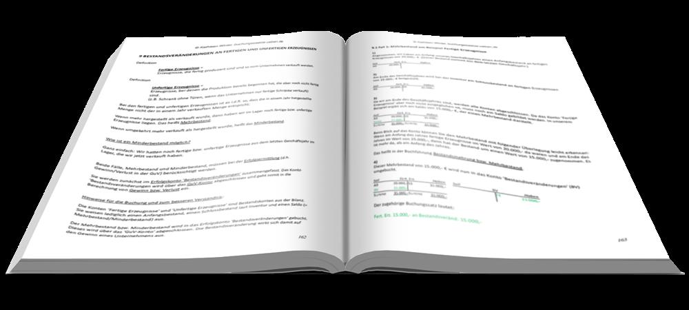 Bestandsveränderungen an fertigen und unfertigen Erzeugnissen - Fit in Buchführung - Basiskenntnisse mit Aufgaben und Lösungen - E-Book