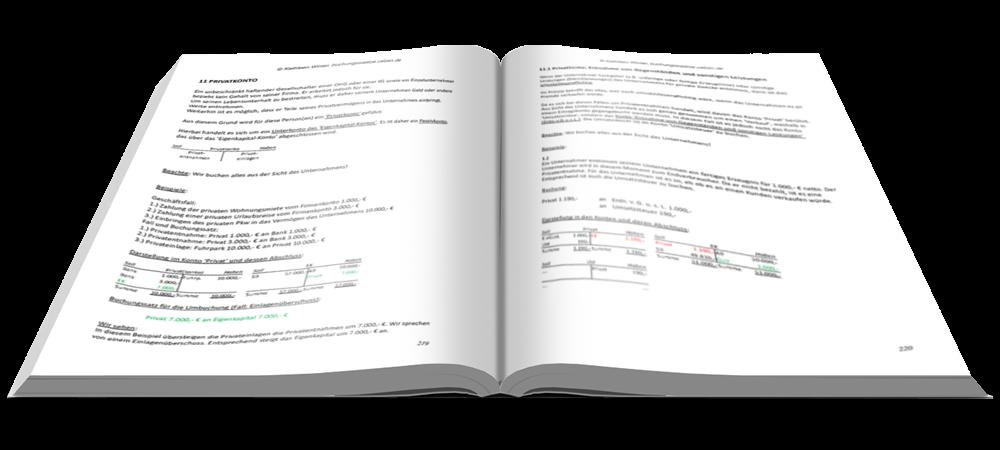 Privtkonto - Fit in Buchführung - Basiskenntnisse mit Aufgaben und Lösungen - E-Book